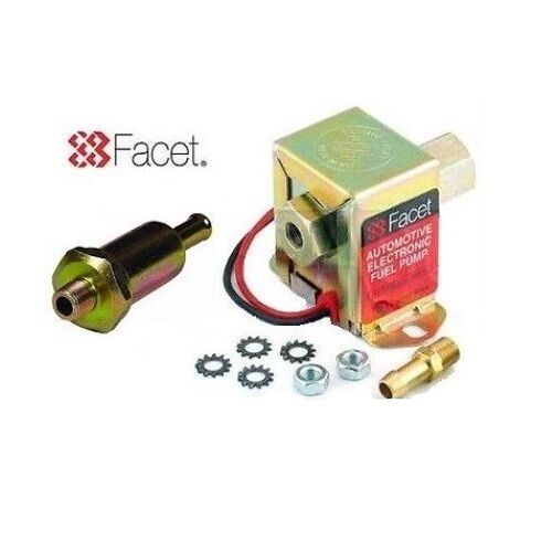+ 8mm UNION 4.5-7.0 PSI FILTER FACET 40106 SOLID STATE CUBE FUEL PUMP