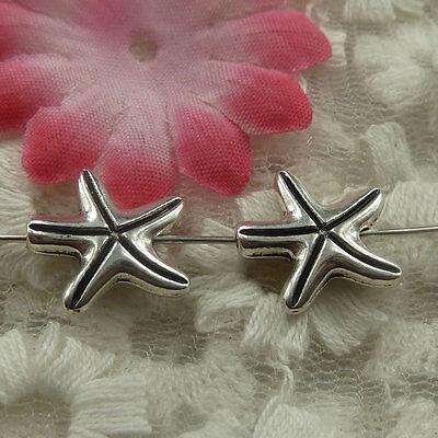 free ship 183 pcs tibetan silver starfish spacer 15x3.5mm #4483