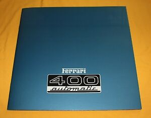 Ferrari-400-Automatic-1976-Prospekt-Brochure-Catalog-Depliant-Prospetto-Prospect