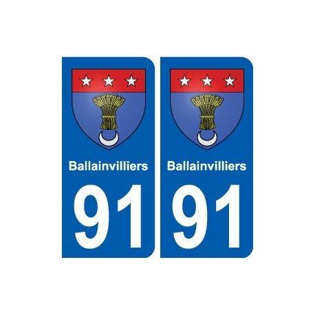 91 Ballainvilliers blason autocollant plaque stickers ville droits