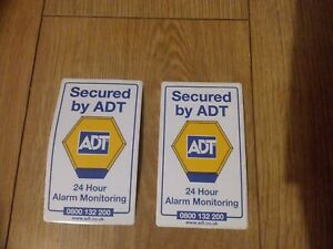 ADT-Sticker-x2-intruder-alarm-window-sticker-Double-Sided-Secured-By-ADT