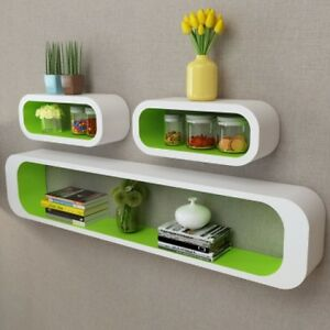 Image is loading Wooden-Shelf-Wall-Mounted-Shelving-Unit-Display-Ornaments-