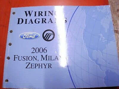 2006 Ford Fusion Lincoln Zephyr Mercury Milan Factory Wiring Diagrams Manual Ebay