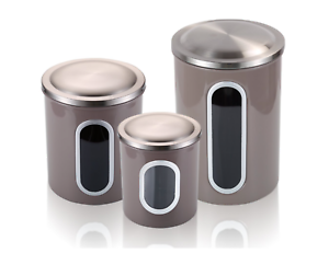 Airtight Tea Coffee Sugar Sets Storage Canisters with Window Anti-fingerprint