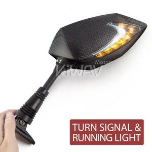 Lucifer-Led-Mirrors-Carbon-Day-Light-Indicator-for-Honda-VFR-800