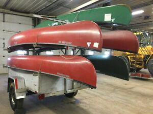 Assorted Canoes w/ Storage Trailer   T1292766