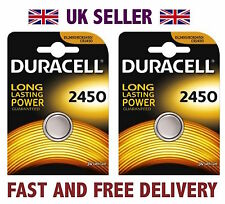 *Cheapest* 2 X Duracell CR2450 3V Lithium Button Battery Coin Cell DL2450 FAST