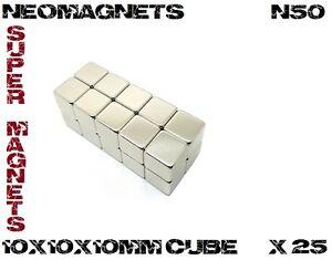 New-10x10x10mm-N50-Rare-Earth-Neodymiuim-SuperMagnet-25-Pieces-Ni-Cu-Ni-Coated