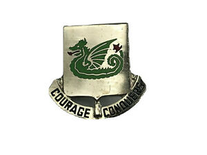 US-Army-DUI-Unit-Crest-Insignia-Pin-Dragon-Courage-Conquers-37th-Armor-K8