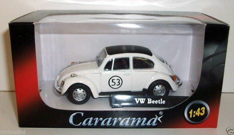VOLKSWAGEN BEETLE RACING #53 1//43 DIECAST MODEL CAR BY CARARAMA 41184