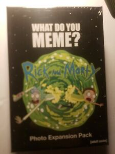 Rick and Morty Expansion Pack w//75 photo cards New Sealed WHAT DO YOU MEME