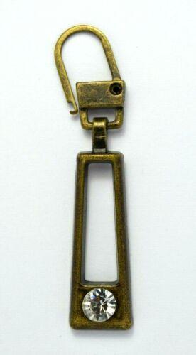309AM Fashion Zipper Zupfer,Ersatz-Zipper für Reißverschlüsse mit Straßstein