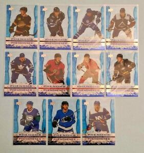 2020/21 Tim Hortons Upper Deck Clear Cut Phenoms Finish Your Set