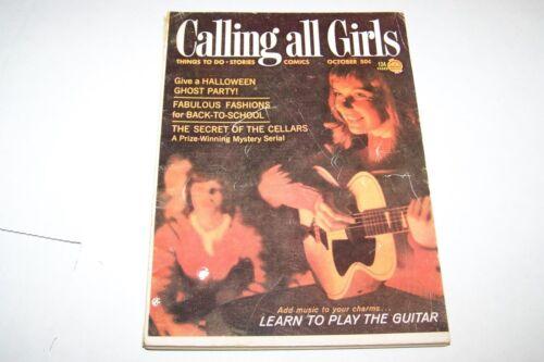 TEEN OCT 1964 CALLING ALL GIRLS magazine GUITAR FASHION