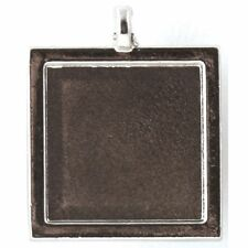 Epiphany Crafts EC METAL CHARM SETTINGS Square 25 SILVER 38-46 Accessories x 5