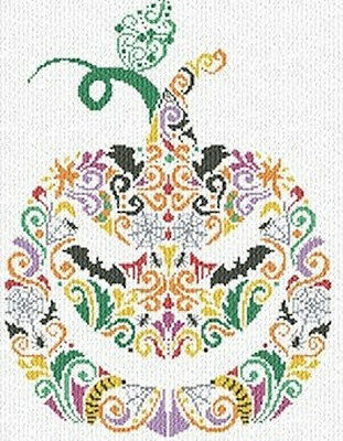 Alessandra Adelaide Needleworks Cross Stitch Chart 157 Halloween Pumpkin