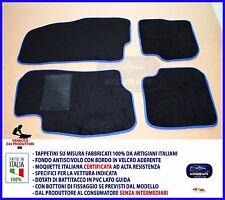 Tappetini Moquette Auto per Fiat Grande Punto 2005> Tappeti Bordino Blu NO LOGO