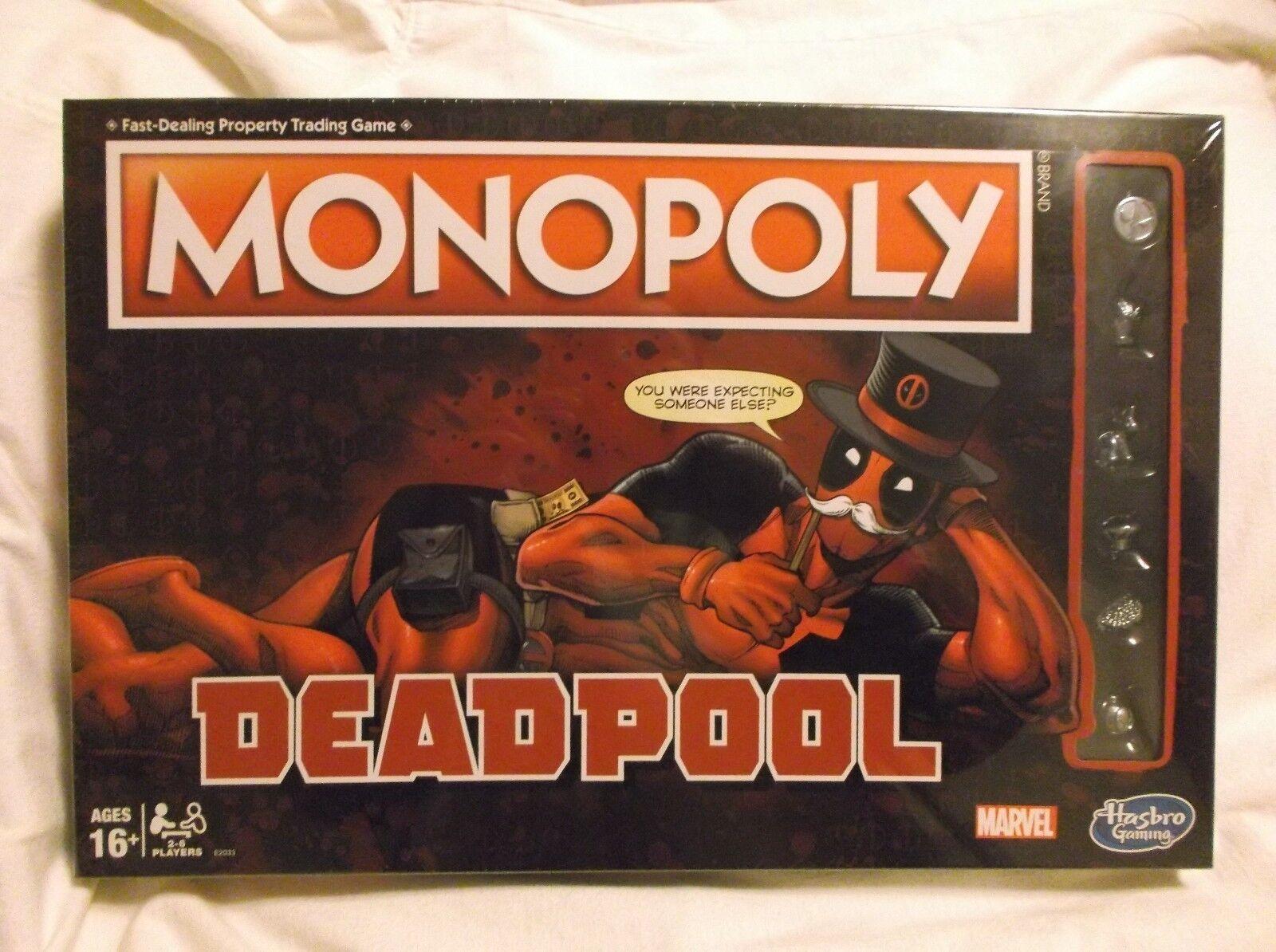 ▶ Deadpool Monopoly Game Sealed Marvel Edition Board Game Hasbro Nuovo NIB