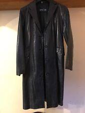 Beautiful Soft 100% Leather Coat Blue M Used