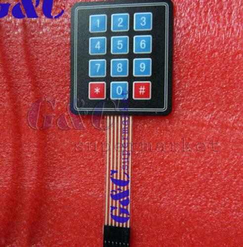 1//2//5//10PCS 4x3 Matrix Array 12 Key Membrane Switch Keypad Keyboard