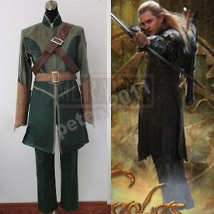 The Lord Of The Rings The Hobbit Legolas cosplay costume ...