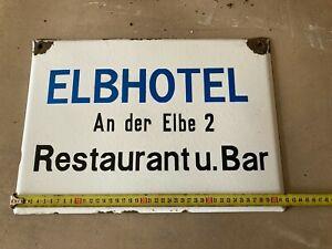 Bad Schandau ELBHOTEL An der Elbe 2 Emailschild