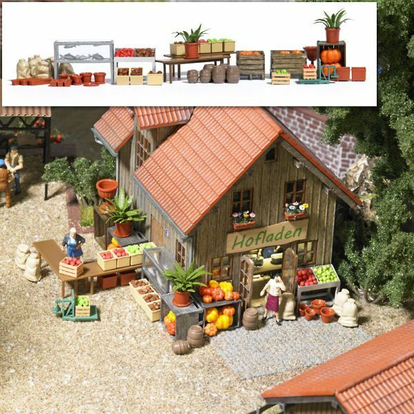 Farm Shop Accessories. plastic kit - Busch 1075