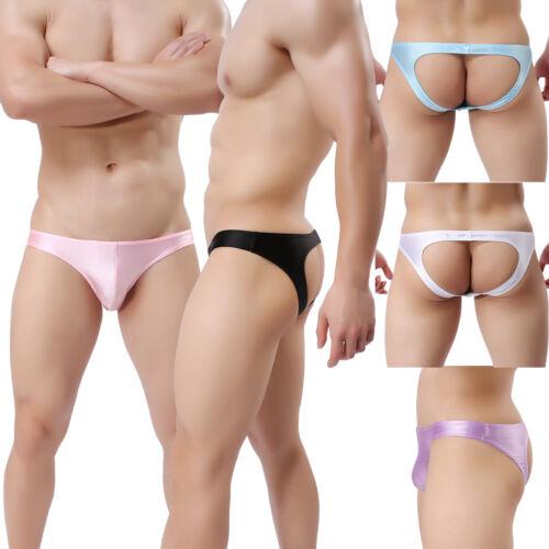 Men/'s Lingerie Underwear Backless JockStrap Sissy Panties Butt Opened Brief S-L