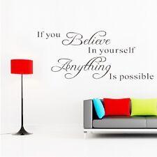 Believe Yourself DIY Art Wall Decal Decor Room Stickers Vinyl Home Mural Paper