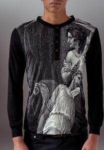Marteino-Men-039-s-Slim-Fit-Long-Sleeve-Silk-Printed-Henley-Shirt