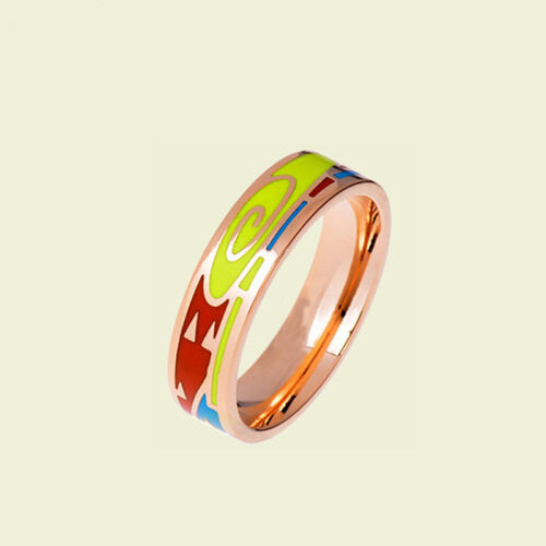 Vortex Design Rose Gold Plated Enamel Jewelry Ring,1pcs//pack
