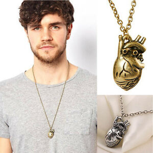 New-Fashion-Vintage-Anatomy-Heart-Pendant-Necklace-for-Men-and-Women-Jewelry-3C