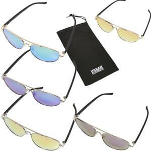 Urban Classics Sunglasses Mumbo Mirror UC Sonnenbrille UV400 Mikrofaser Bag New
