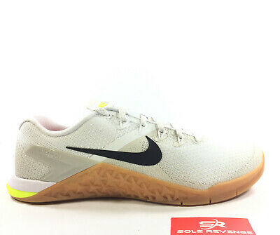 New Nike Metcon 4 White/Light Bone/Volt