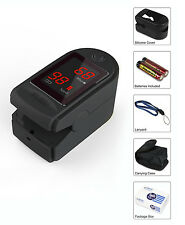 Concord Basics Finger Pulse Oximeter Black with Carrying Case, Lanyard and more.