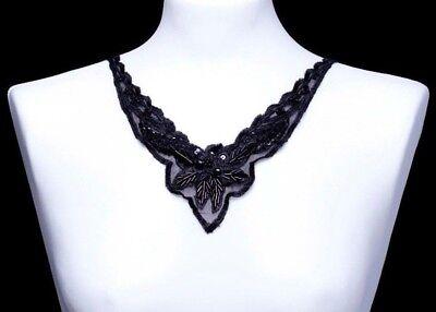 Neckline Motif Lace Trim VNeck Rayon Lace Applique Craft Sew on Neckline 1pc