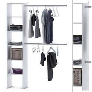 Kleiderschrank 67 35 Offen Begehbar Weiss Schrank Kleiderstander
