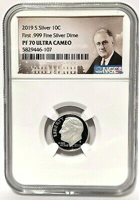 2019 S CLAD ROOSEVELT DIME 10C NGC PF 69 FIRST RELEASES ULTRA CAMEO AAA