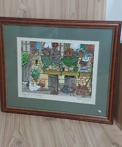 Signed-Artist-Penny-Cox-Stow-039-Ignore-Him-George-039-1998-Original-Limited-Print