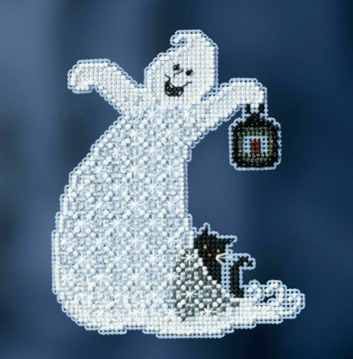Ellis Beaded Halloween Cross Stitch Kit Mill Hill 2017 Ghost Trilogy MH191722