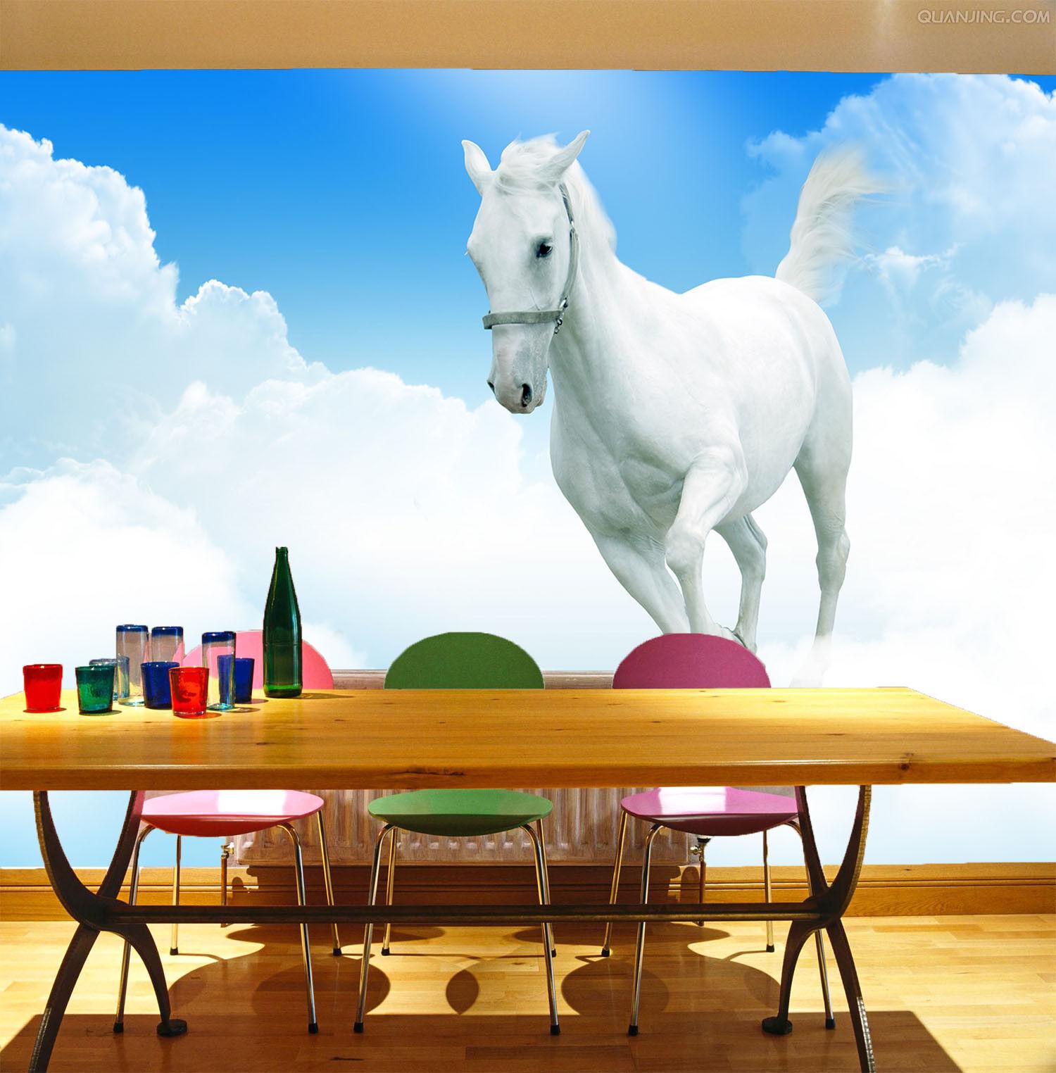 3D Cloud Horse 433 Wallpaper Murals Wall Print Wallpaper Mural AJ WALL UK Jenny