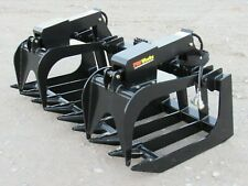 72 Heavy Duty Root Rake Grapple Bucket Attachment Fits Skid Steer Loader 6