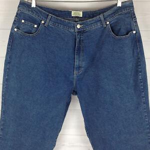 649df7eee Details about St. John's Bay Women's Size W20 X L30 STRETCH Medium Wash  Tapered Denim Jeans