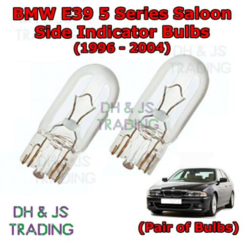 BMW 5 Series E39 Front Sidelights Parking Lights Side Light Bulb Bulbs 96-04