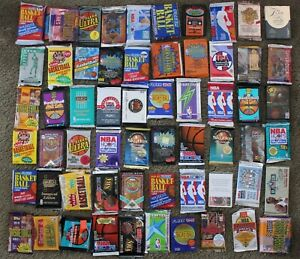 Lot-of-vintage-NBA-Basketball-Cards-in-Factory-Sealed-Packs