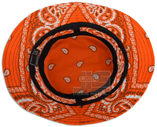 L|XL USA Made Various Colors JLGUSA S|M Cotton Paisley Bandana Bucket Hat