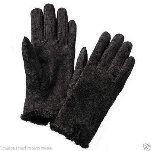 ISO Isotoner Ladies Microsuede Gloves ~ Size Large or XL ~ Black ~ NWT