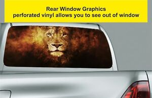 Window-Graphic-Tint-Truck-Jeep-SUV-Fairy-Tale-Fantasy-Lion-Sticker-559