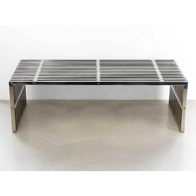 Bauhaus Edelstahl Möbel wie Sitzbank, Sideboard, Couchtisch oder Hocker (Serie)