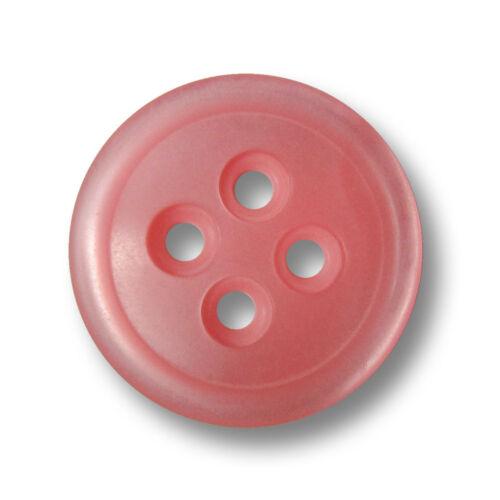 5 süße schlichte perlmuttartig rosafarbene Vierloch Kunststoff Knöpfe 5087rs